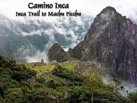 Machu Picchu from the Camino Inca